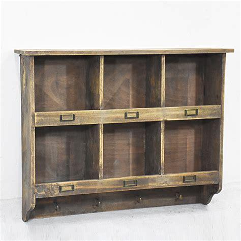 slots antique rustic wooden wall cube shelf   hooks buy cube shelf wall cube shelf
