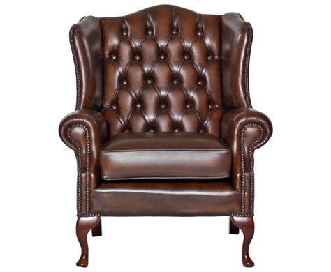 amerigo antique brown leather fireside chair uk delivery