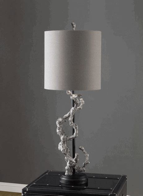 Rustic Table Lamps: Twisted Branch Table Lamp Black Forest