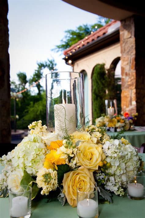 Wedding Tablescape Centerpiece Yellow Tuscan Party Wedding