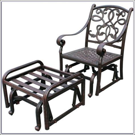 single glider patio chairs patios home decorating