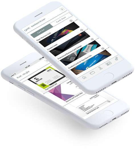 business card creator app  design print business cards