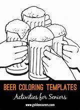 Beer Colouring Templates Activities Dementia Coloring August Seniors Elderly Pages Goldencarers Crafts International Template Ella Enchanted Care Easy Senior sketch template