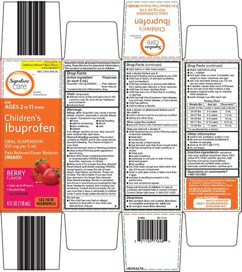 Dailymed Signature Care Ibuprofen Childrens Ibuprofen
