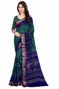 Buy Bandhani Saree (Green hand woven Bandhani saree With