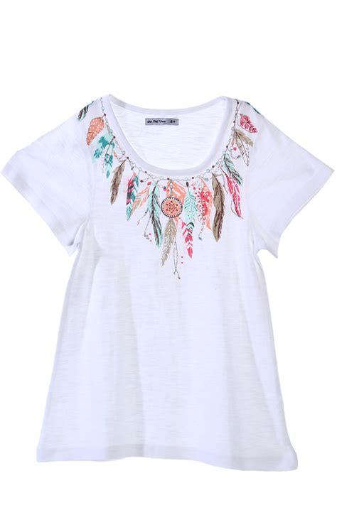 48 vanity with top t shirt print plumes du 6 au 14 ans fille acheter ce