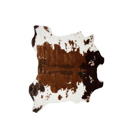Faux Cowhide Rug by Faux Chocolate White 4 25 Ft X 5 Ft Cowhide Rug Throw