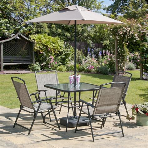 Garden Table Chairs oasis patio set outdoor garden furniture 7 folding