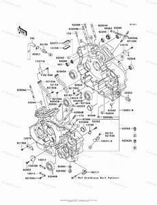 Kawasaki Motorcycle 2003 Oem Parts Diagram For Crankcase