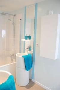 salle de bain design bleu et blanc journal du loft With salle de bain bleu et blanc
