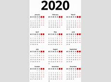 2020 Calendar Black Transparent PNG Image Gallery