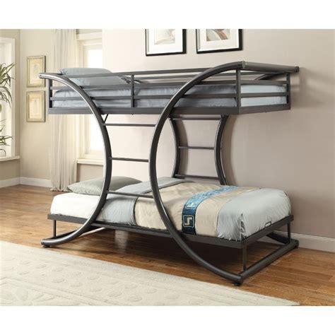 Coaster Twin Over Twin Bunk Bed in Dark Gun Metal - 461078