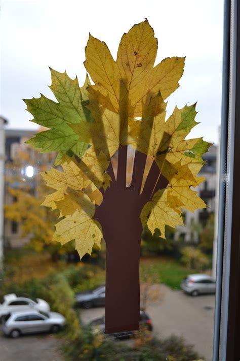 Fenster Blätter by Herbst Kinderlitzchen