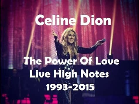 celine dion  power  love  high notes