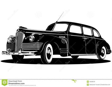 Vector Limousine Silhouette Stock Vector