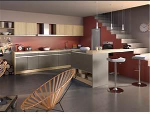 Quelle Couleur De Mur Avec Des Meubles En Chene : la cuisine couleur taupe on l 39 adore deco cool ~ Nature-et-papiers.com Idées de Décoration