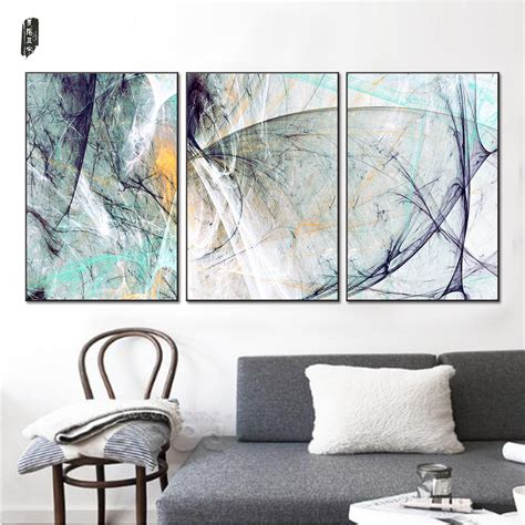 living room wall decor מוצר landscape abstract canvas paintings modern wall 7143
