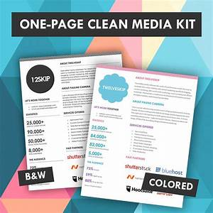one page media kit template https wwwetsycom listing With advertising media kit template