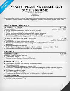 financial planning associate resume pin by resume companion on resume sles across all industries pin
