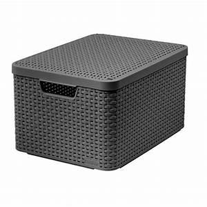 Rattan Box Mit Deckel : aufbewahrungskorb rattan style 4 farben curver l rattan ~ Bigdaddyawards.com Haus und Dekorationen