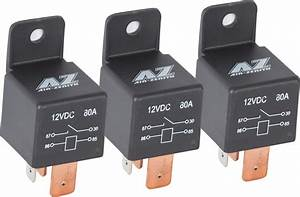 Air Zenith 80 Amp Relay 3 Pack For 12 Volt Compressors