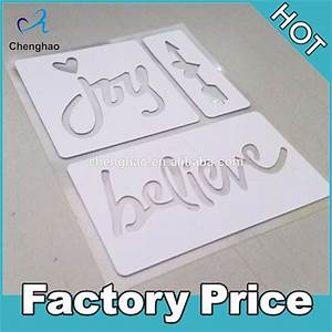 hot sale custom plastic adhesive stencils with alphabet With self adhesive letter stencils