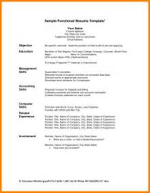 chronological format resume sle doc 543622 sle chronological resume resume template