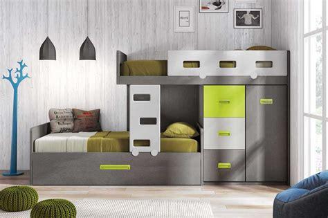 lit gigogne avec bureau lit superposé décalé et personnalisable glicerio