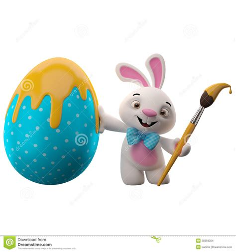 Character Decorated Eggs by 3d Easter Bunny Merry Cartoon Rabbit Animal Character