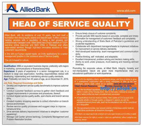 of allied bank ltd 2015 for of