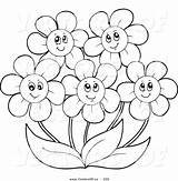 Coloring Pages Flower Daisy Clipart Flowers Simple Gerbera Drawing Gerber Printable Daisies Getdrawings Getcolorings Clipground Popular Colorin sketch template