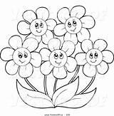 Coloring Flower Flowers Clipart Daisy Gerbera Happy Gerber Simple Drawing Printable Daisies Getdrawings Getcolorings Clipground Colorings Popular Colorin sketch template
