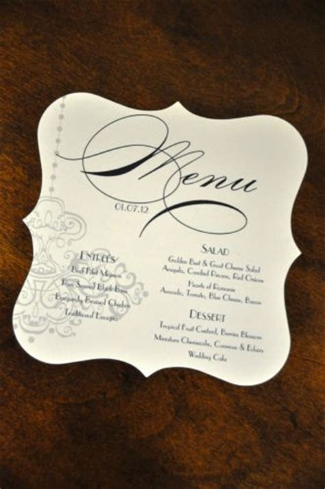 shapely square wedding menu wiregrass weddings