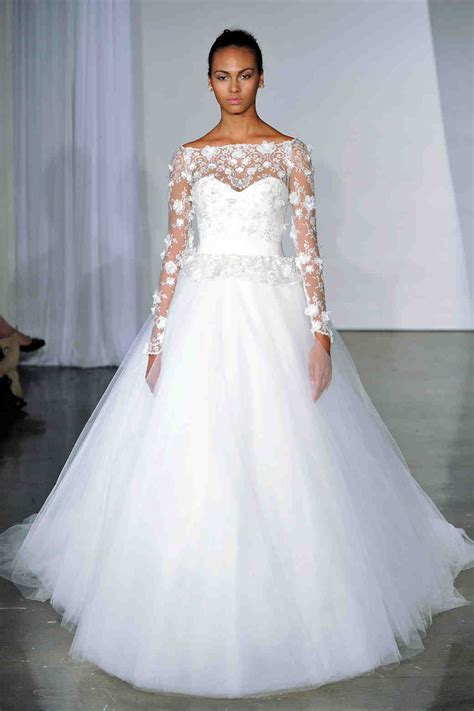 long sleeve wedding dresses fall  martha stewart