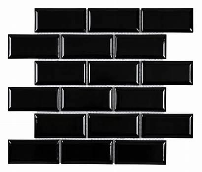 Subway Tile Glossy 2x4 Beveled Backsplash Tiles