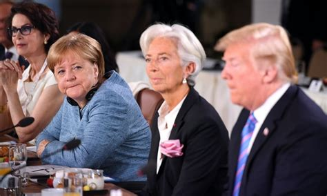 Angela merkel's g7 photo, in which she is seen towering over donald trump has gone viral for rightly capturing the dynamics between the g7 leaders. These Memes Of Angela Merkel & Donald Trump At The G7 ...