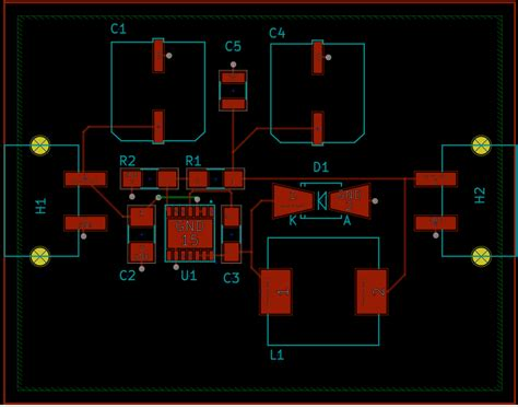 pcb layout  trace widths  buck converter