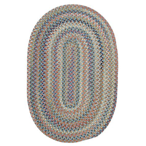 oval braided rugs colonial mills cedar cove light blue 2 ft x 3 ft oval