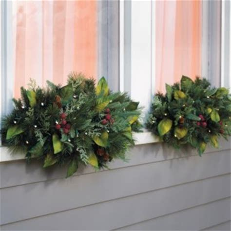 woodland set of two cordless window swags grandin road