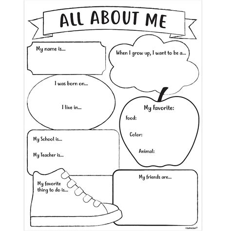 all about me activity sheets 30ct city