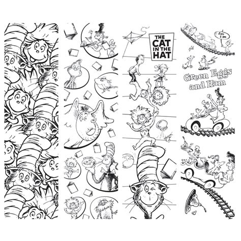 bookmarks to color dr seuss printable bookmarks to color food ideas