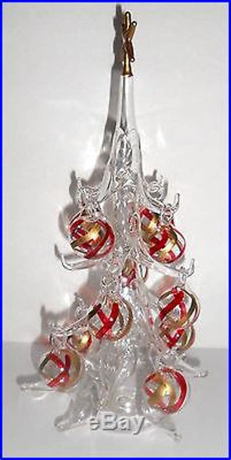 venetian glass christmas tree soffieria parise tree with ornaments italy venetian blown glass