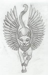 Bastet v1 tattoo by Tharanthiel on DeviantArt