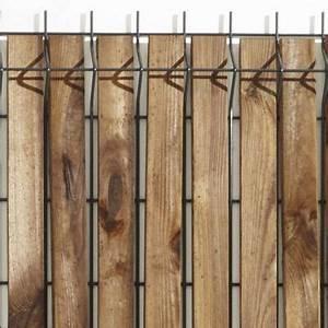 Lame Occultation Bois Grillage Rigide : lames d 39 occultation pour grillage soud bois x 40 cm castorama ~ Melissatoandfro.com Idées de Décoration