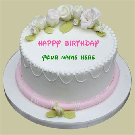 Personalized Birthday Cake Images Happy Birthday Sugar Cake With Your Name Write Name