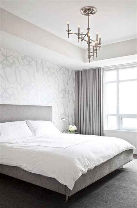 modern wallpaper accent wall decorating a silver bedroom ideas inspiration
