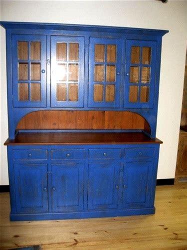 blue rustic hutch  reclaimed wood ecustomfinishes
