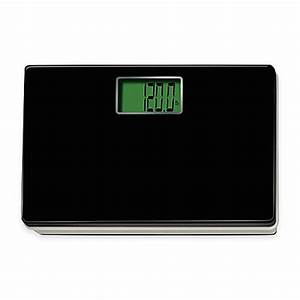 Digital talking regular size bathroom scale in black bed for Bathroom scales at bed bath and beyond