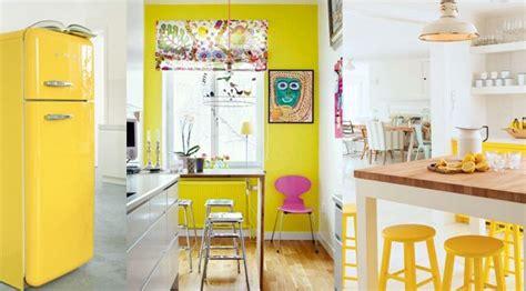 toile cuisine cuisine jaune décoration cuisine jaune