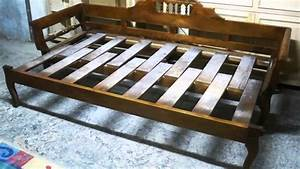 wooden sofa bed youtube With how to make a sofa bed